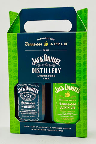Jack Daniel's Tennessee Whiskey Black Label 375 ml & Apple 375 ml