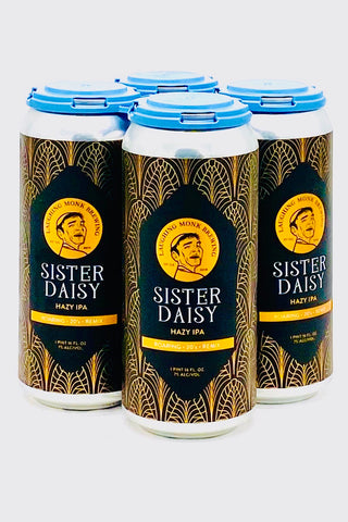 "Laughing Monk ""Sister Daisy"" Hazy IPA 16 oz Can Four Pack"