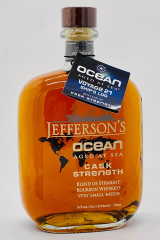 Jefferson's Ocean Cask Strength Aged at Sea Bourbon Whiskey
