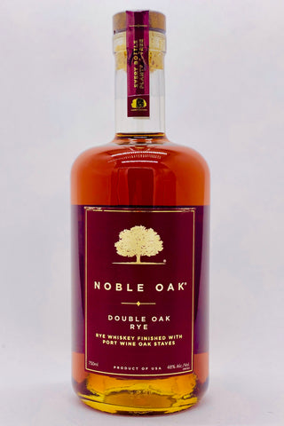 "Noble Oak ""Double Oak"" Rye Whiskey Port Finish"
