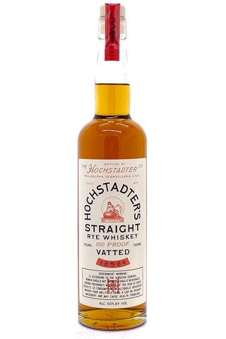 Hochstadter's Vatted Straight Rye 100 Proof Whiskey
