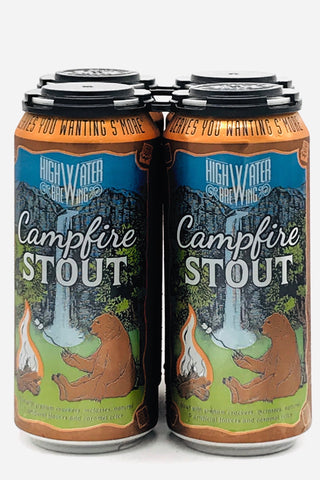 High Water Campfire Stout 4 Pack 16 Ounce Cans