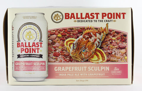 Ballast Point Grapefruit Sculpin Six Pack 12 oz Cans