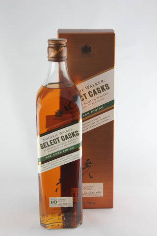 Johnnie Walker Rye Cask Finish 10 Year Old Scotch Whisky Select Cask