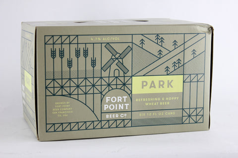 Fort Point Park Wheat Beer six-pack cans