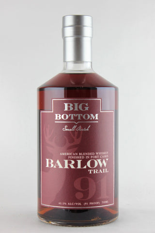 Big Bottom American Whiskey Barlow Trail Port Finish 750 ml