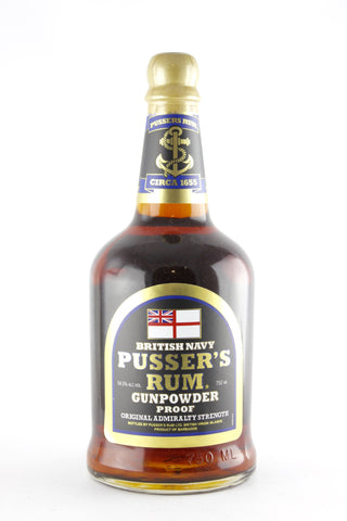 Pusser's Rum British Navy Gunpowder Proof