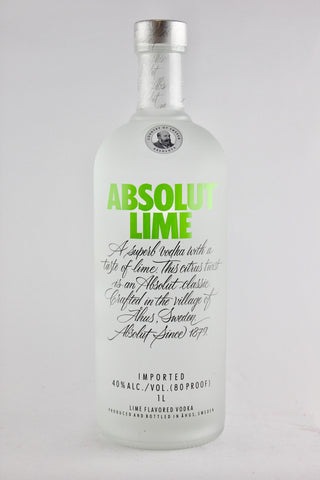 Absolut Lime Vodka Litre