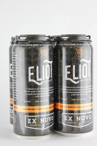 Ex Novo Eliot IPA 12 oz Four Pack Cans