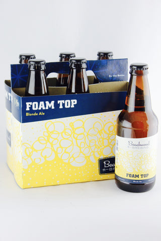 Beachwood Brewing Foam Top Blonde Ale 12 oz Six Pack