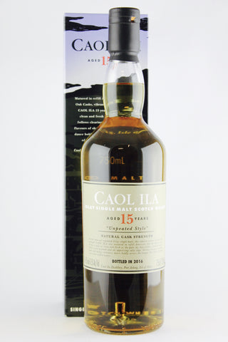 Caol Ila 15 Year Old Unpeated 61.5% ABV Scotch Whisky