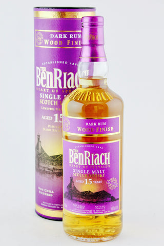 BenRiach 15 Year Old (finished in Dark Rum Casks) Scotch Whisky