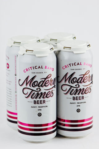 Modern Times Critical Band IPA 16 oz Can Four Pack