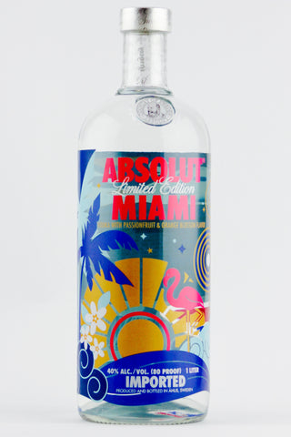 Absolut Miami Vodka Litre