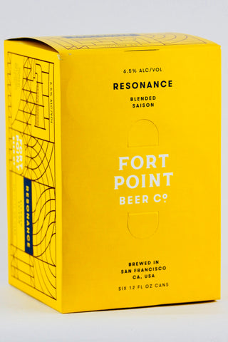 Fort Point Resonance Saison six-pack cans