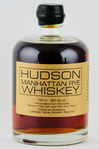 Hudson Manhattan Rye Whiskey By Tuthilltown Spirits 750 ml