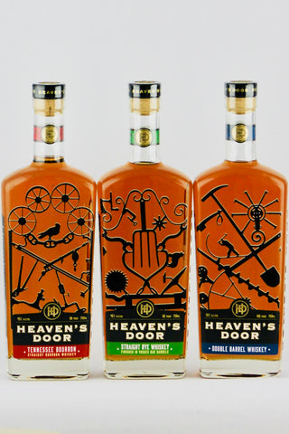"Heaven's Door Bourbon & Rye Whiskey ""Trilogy Pack"" by Bob Dylan"