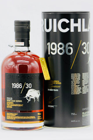 Bruichladdich Rare Cask 30 Years Old Vintage 1986 Scotch Whisky
