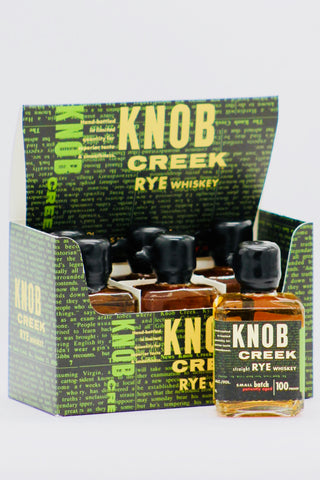 Knob Creek Small Batch Rye Whiskey 100 proof 6 x 50 ml