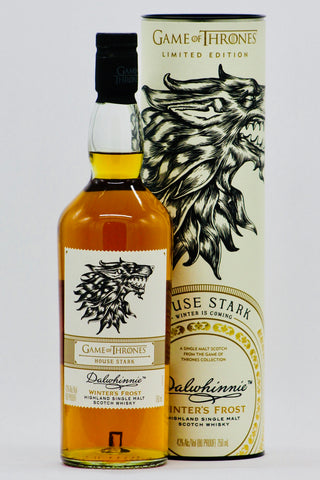 "Game of Thrones Dalwhinnie ""Winter's Frost"" ""House Stark"" Single Malt Scotch Whisky"