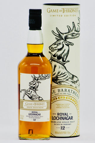 "Game of Thrones Royal Lochnagar 12 year old ""House Baratheon"" Single Malt Scotch Whisky"