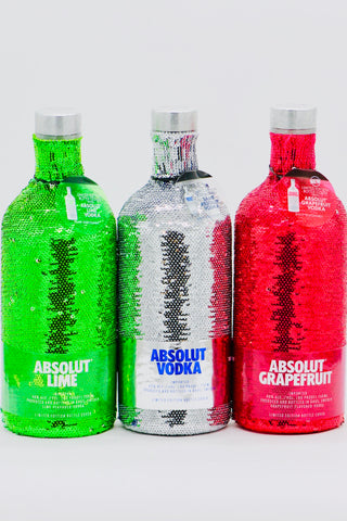 "Absolut ""Sequin"" Vodka Set of 3 x 750 ml"
