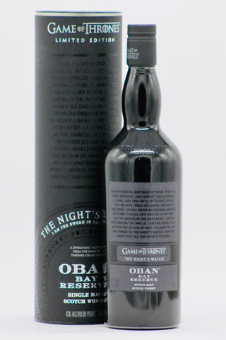 "Game of Thrones Oban Bay Reserve ""Night's Watch"" Single Malt Scotch Whisky"