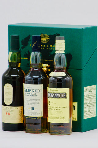 Classic Malt Whisky (Lagavulin, Cragganmore, Talisker) Gift Pack 3 x 200 ml