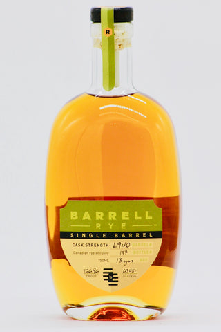 Barrell 13 Year old Canadian Single Barrel Rye
