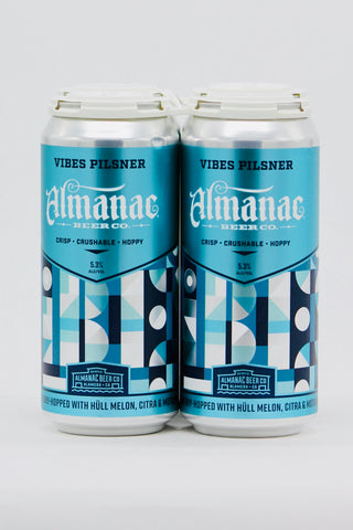 Almanac Vibes Pilsner Four Pack Cans