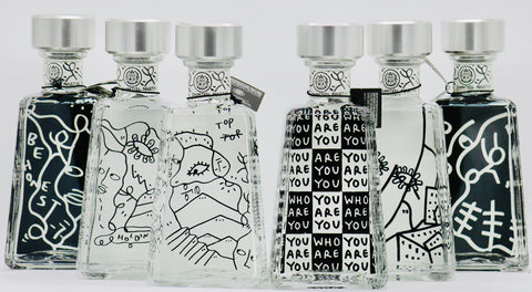 1800 Tequila Shantell Martin Essential Artists Series Silver Tequila Limited Edition Complete set of Six Bottles!