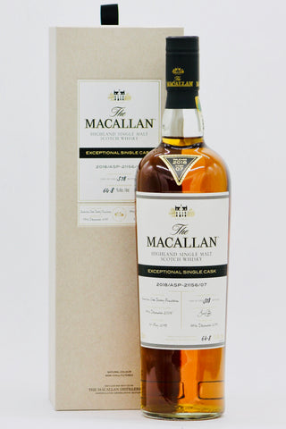 Macallan 2018/ASB-21156/07 Exceptional Single Cask Scotch Whiskey