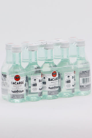 Bacardi Superior White Rum 10 x 50 ml