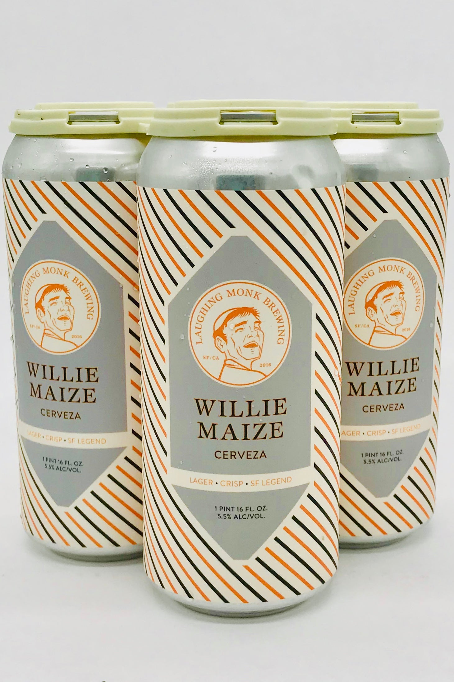 Laughing Monk Willie Maize Cervesa 16 oz Can Four Pack
