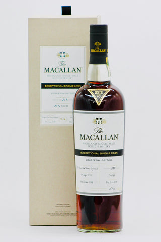 Macallan 2018/ESH-3917/10 Exceptional Single Cask 25 Year Scotch Whiskey