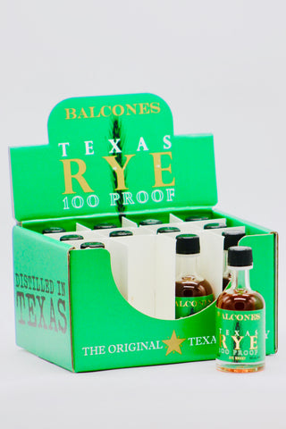 Balcones Texas Rye Whiskey 12 x 50 ml