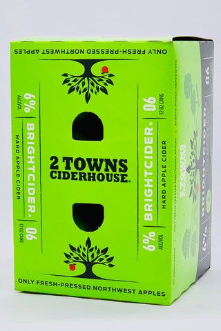 2 Towns Ciderworks Bright Cider 6 pack cans