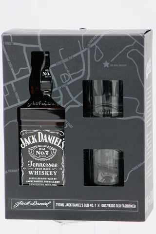 "Jack Daniel's ""Black Label"" ""with Glass, Spanish Language"" Tennessee Whiskey"