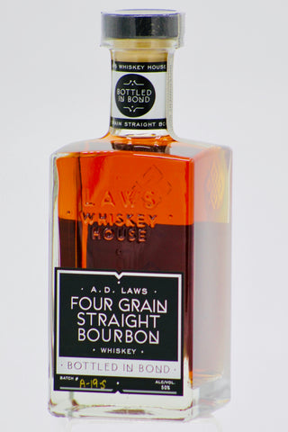 A.D. Laws Four Grain Bourbon Whiskey Bottled in Bond