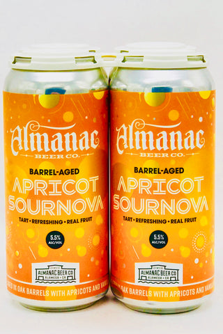 Almanac Apricot Supernova Ale Four Pack 12 oz cans