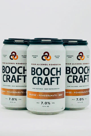 Booch Craft Orange Pomegranate Beet Kombucha Four Pack 12 oz Cans