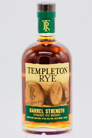 "Templeton ""Barrel Strength"" Rye Whiskey"