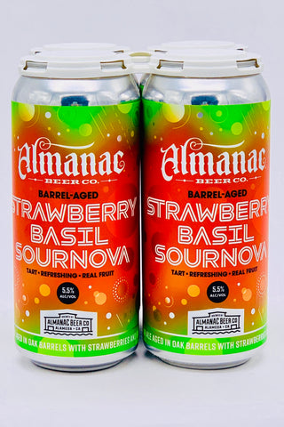 Almanac Strawberry & Basil Sournova Ale Four Pack 12 oz cans