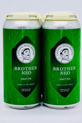 "Laughing Monk ""Brother Neo"" Hazy IPA 16 oz Can Four Pack"