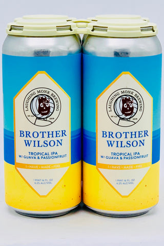 "Laughing Monk ""Brother Williams"" Tropical IPA 16 oz Can Four Pack"