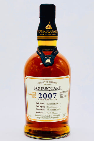 Foursquare Rum Distillery Vintage 2007 12 Years Old Barbados Rum