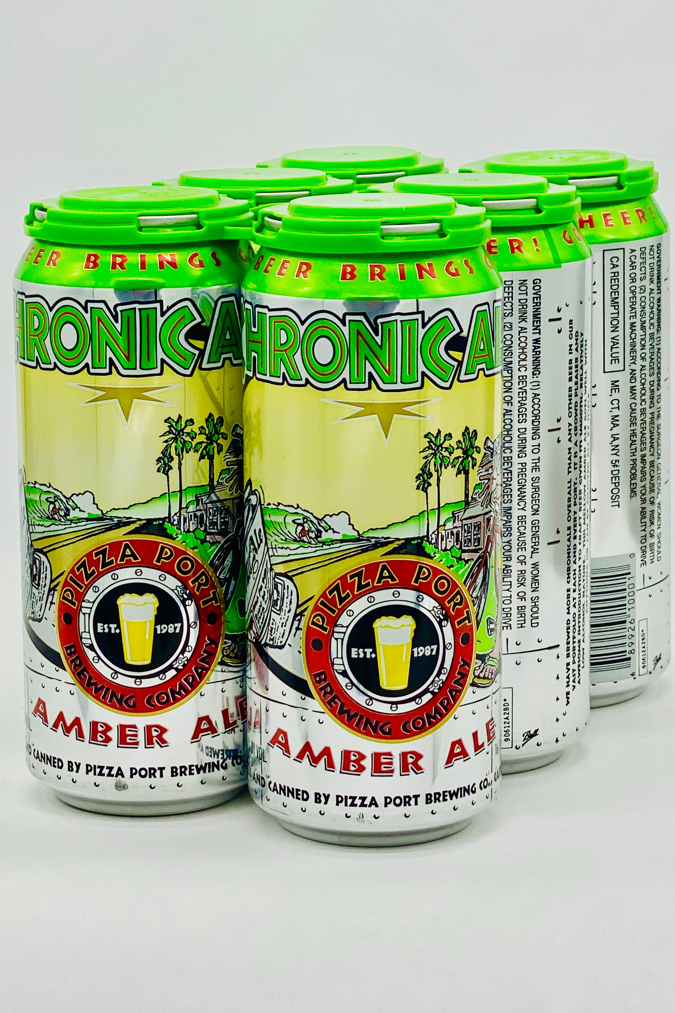 Pizza Port Chronic Ale Amber Six Pack 16 oz Cans
