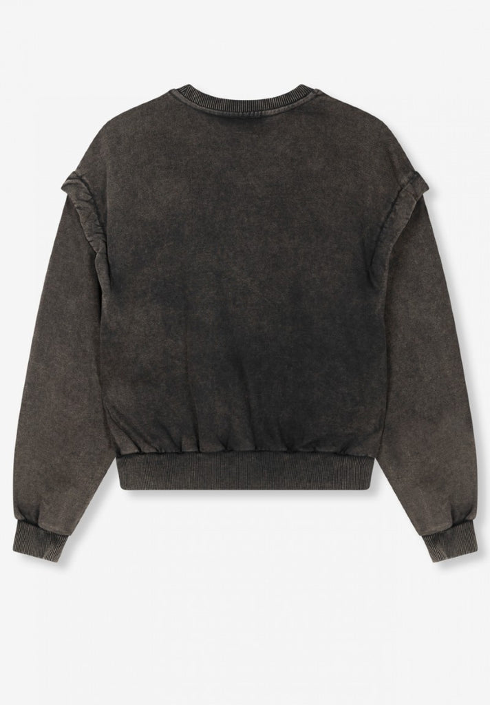 ALIX THE LABEL ALIX UNIVERSITY SWEATER CHARCOAL GREY - Your Trends&Brands