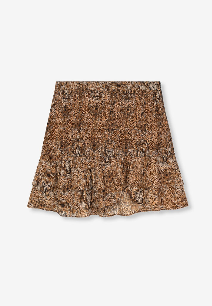 ALIX THE LABEL ANIMAL CREPE SKIRT - Your Trends&Brands
