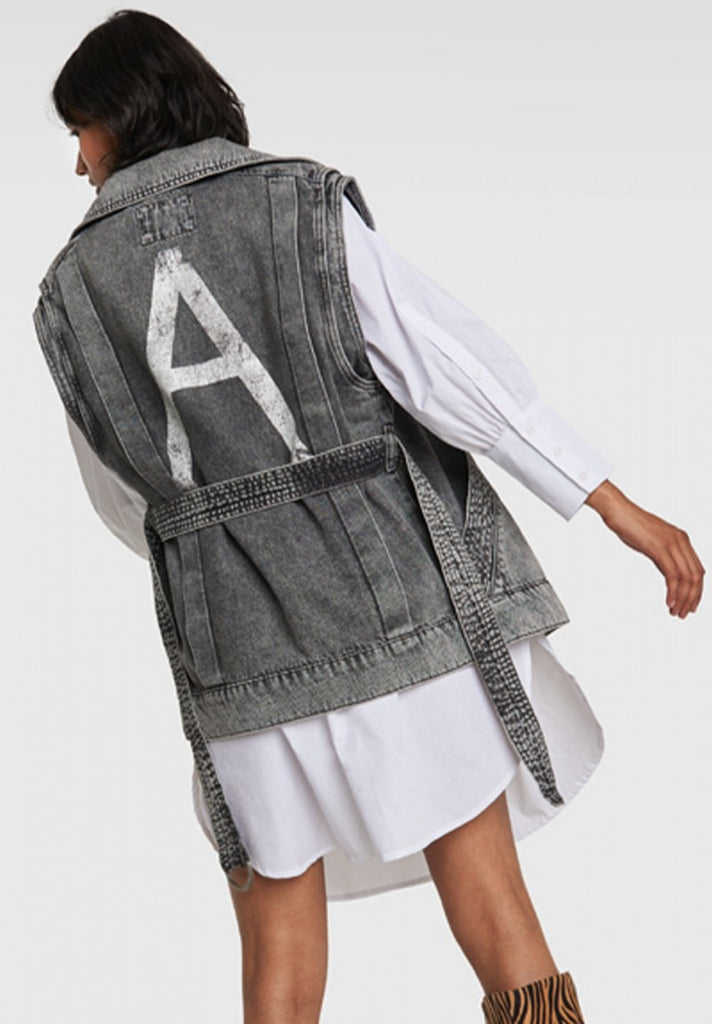 ALIX THE LABEL DENIM OVERSIZED WAISTCOAT - Your Trends&Brands